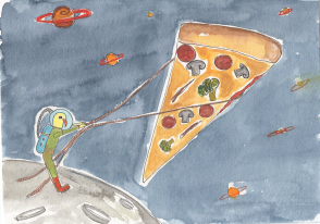 If You Want Space Pizza, You Have to Basically Just Go Outside and Get It